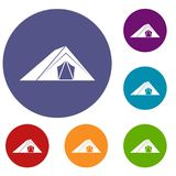 Tent icons set Royalty Free Stock Photo