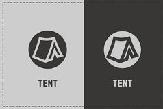 Tent Illustration. A clean and simple tent illustration Royalty Free Stock Photos