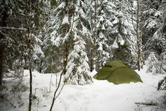 Free Tent In Snow Royalty Free Stock Image - 4121356