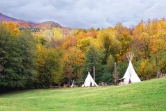 Tent of the Indians Stock Photography