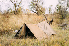 Tent Of Infantry Soldier Of Soviet Russian Red Army During World Royalty Free Stock Photography