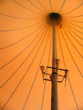 Tent inside. Big orange tent of a circus inside Royalty Free Stock Photos
