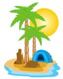 Tent on island Royalty Free Stock Photo