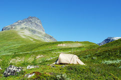 Tent in Jotunheimen Royalty Free Stock Photography