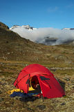 Tent in the Jotunheimen National Park, Norway Royalty Free Stock Image