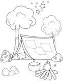 Tent kleurende pagina Royalty-vrije Stock Afbeelding
