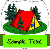 Tent label Royalty Free Stock Image