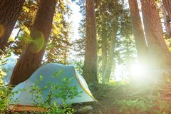 Tent on the lake Royalty Free Stock Photos
