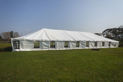 Tent Large White. Mobile on field for celebration fete event party wedding function Stock Image