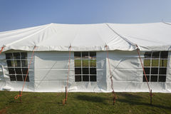 Tent Large White. Mobile on field for celebration fete event party wedding function Royalty Free Stock Photo