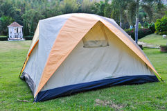 Tent on lawn Stock Photography