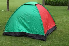 Tent on lawn Royalty Free Stock Image