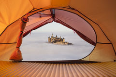 Tent lookout to Castle Hohenzollern Stock Photos