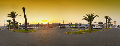 Tent Market in Jeddah at sunset stock images