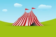 Tent met vlag Stock Foto