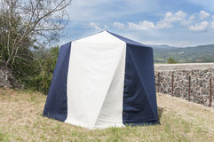 Tent in the middle of nature Royalty Free Stock Image