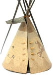 Tent model  a Red Indian home. Tent model a  Red Indian home produce from paper old and bamboo Royalty Free Stock Image