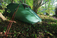 Tent in the morning Royalty Free Stock Images