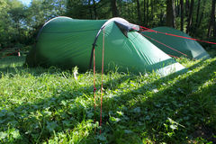 Tent in the morning Royalty Free Stock Photo