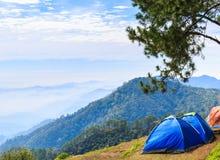 Tent in mountain Stock Photos