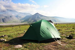 Tent in the mountain Royalty Free Stock Images