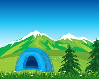 Tent in mountain Royalty Free Stock Image