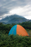 Tent at the mountains. Royalty Free Stock Photos
