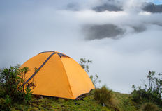 Tent in the mountains,  Andes.  Peru Stock Photo