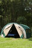 Tent in mountains - Biesczady, Poland. Tent in forest in mountains. Polish mountains - Bieszczady during summer Royalty Free Stock Photo