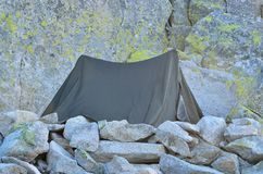 Tent in mountains. Stock Images