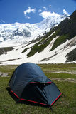Tent at Nanga Parbat base camp Royalty Free Stock Photo
