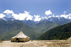 Tent in nature Royalty Free Stock Image