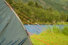 A tent in the nature Royalty Free Stock Images