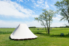 Tent in nature Stock Photos
