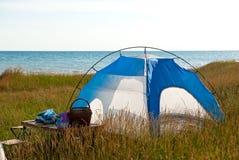 Tent near sea Stock Image