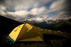 Tent at night Royalty Free Stock Photos