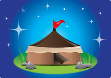 Tent at night Royalty Free Stock Photos