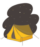 Tent at night vector Royalty Free Stock Photo