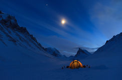 Tent at night Stock Image