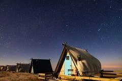 Tent onder de sterren royalty-vrije stock foto's