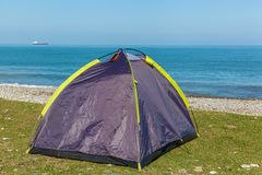 Tent op het strand Royalty-vrije Stock Fotografie