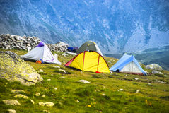 Tent op Retezat 1 Stock Foto's