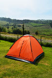 Tent orange Royalty Free Stock Photos
