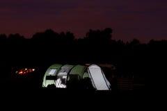 Tent på natten Royaltyfri Foto