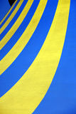 Tent pattern. Circus tent pattern yellow and blue Royalty Free Stock Photo