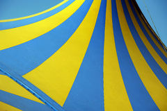 Tent pattern. Circus tent pattern yellow and blue Royalty Free Stock Photos
