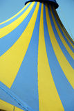Tent pattern. Circus tent pattern yellow and blue Stock Photo