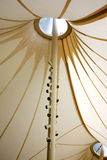 Tent Pavilion. Detail of the tent pavilion at the Mont-shire Science Museum, Norwich, Vermont Royalty Free Stock Image