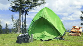 Tent of the Photographer on Nature stock footage