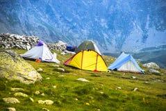 Tent on Retezat 1 Stock Photos